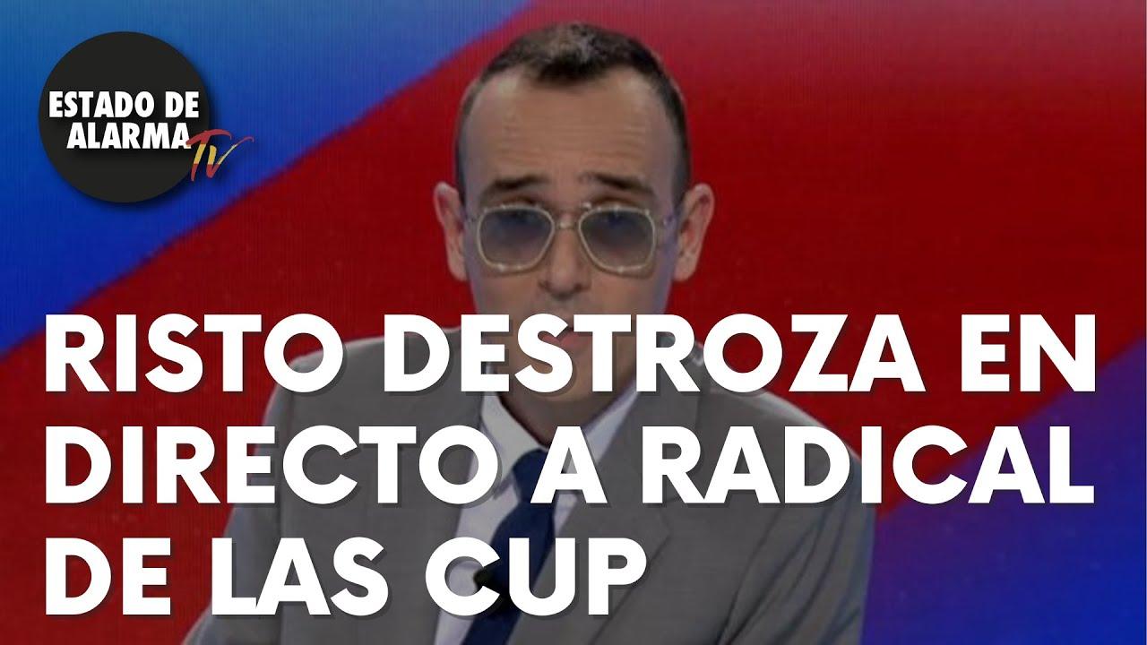 Risto Mejide destroza en directo a una radical de las CUP
