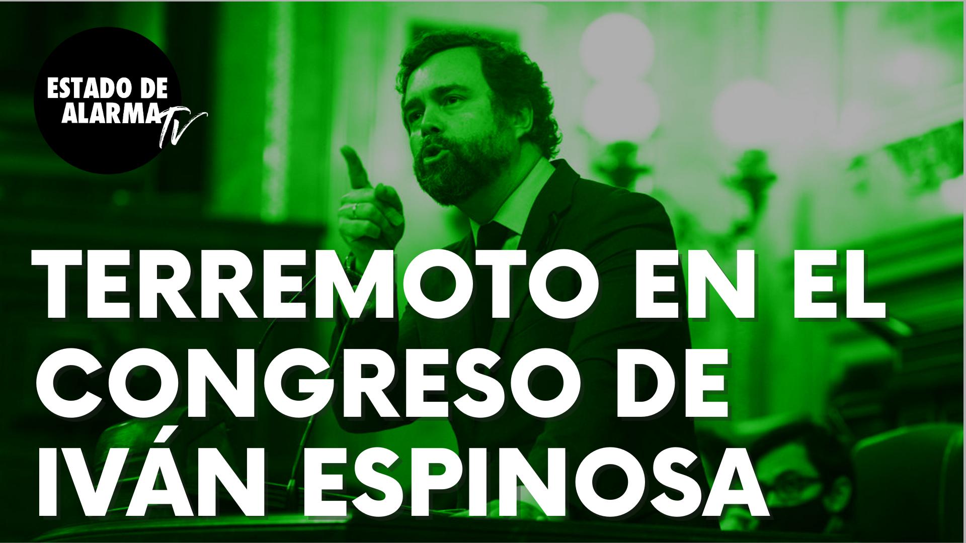 """Iván Espinosa provoca un auténtico terremoto en el Congreso contra Podemos: """"No nos van a asustar"""""""
