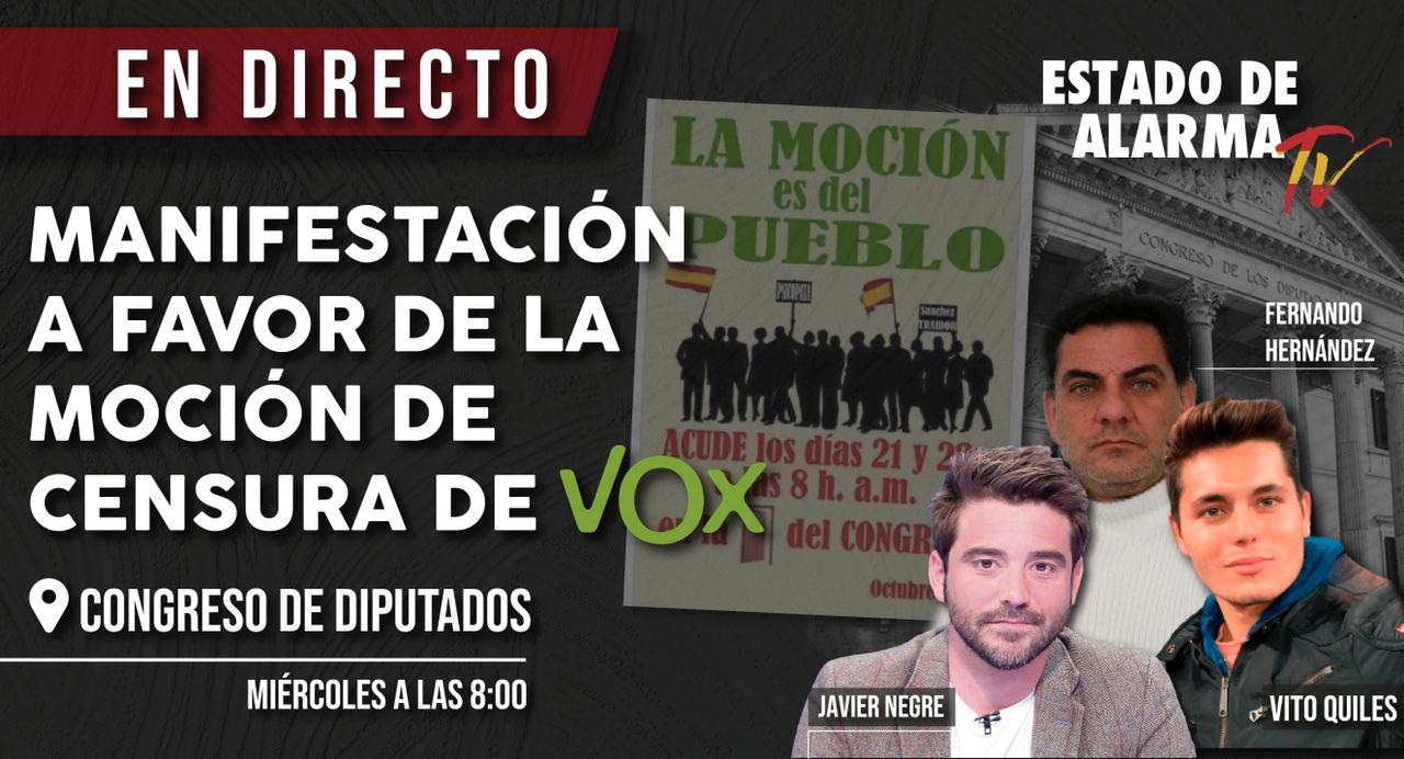 DIRECTO MANIFESTACIÓN a favor de la moción de VOX a las puertas del CONGRESO