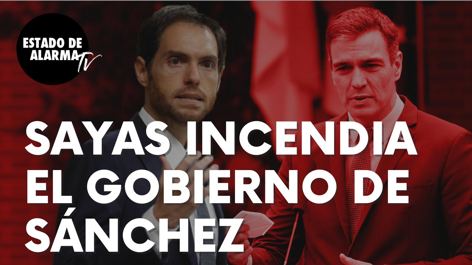 """Las palabras de Sergio Sayas en el Congreso que incendian el Gobierno de Sánchez: """"Están robando..."""""""