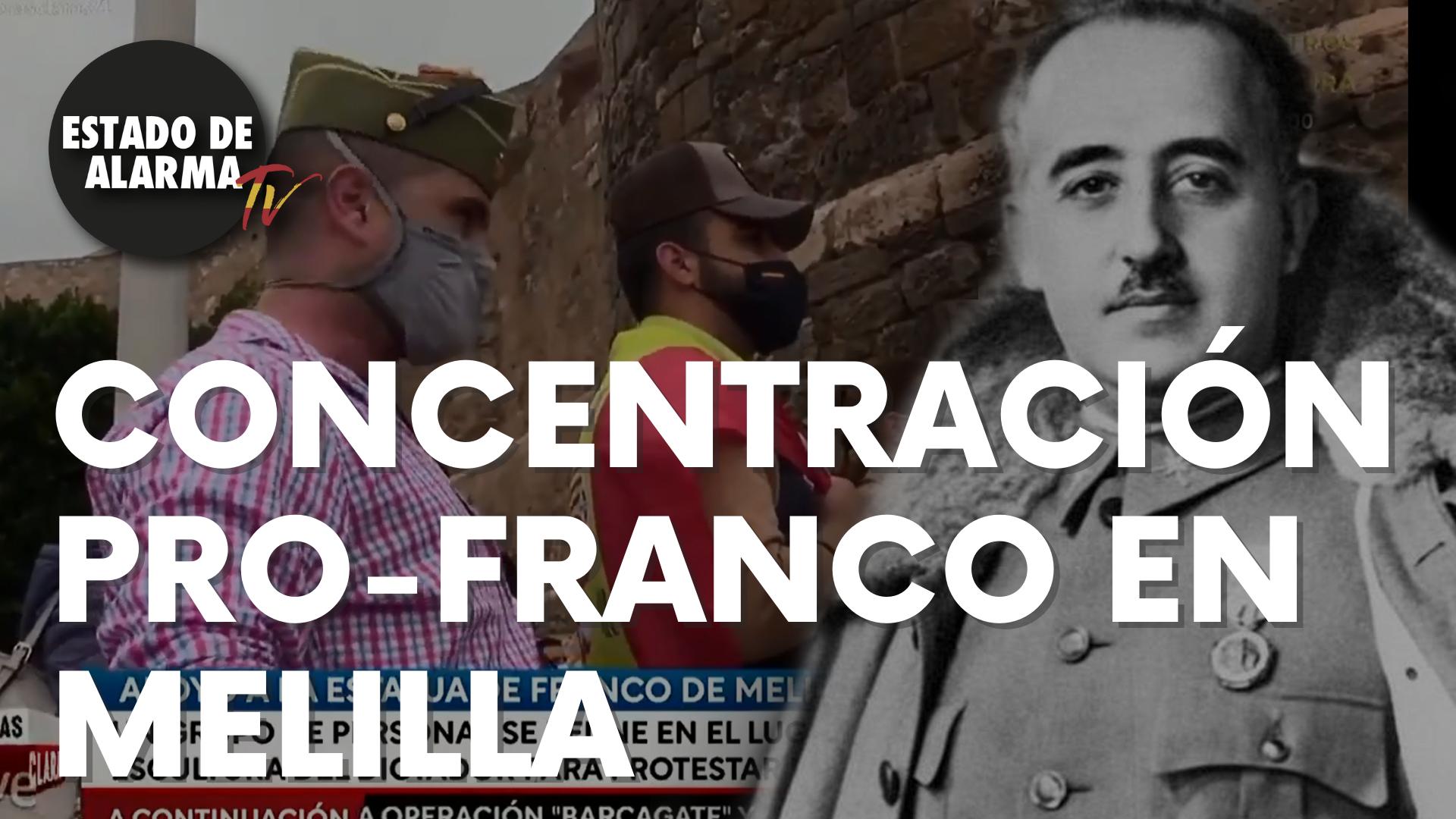 Concentración pro-Franco en Melilla