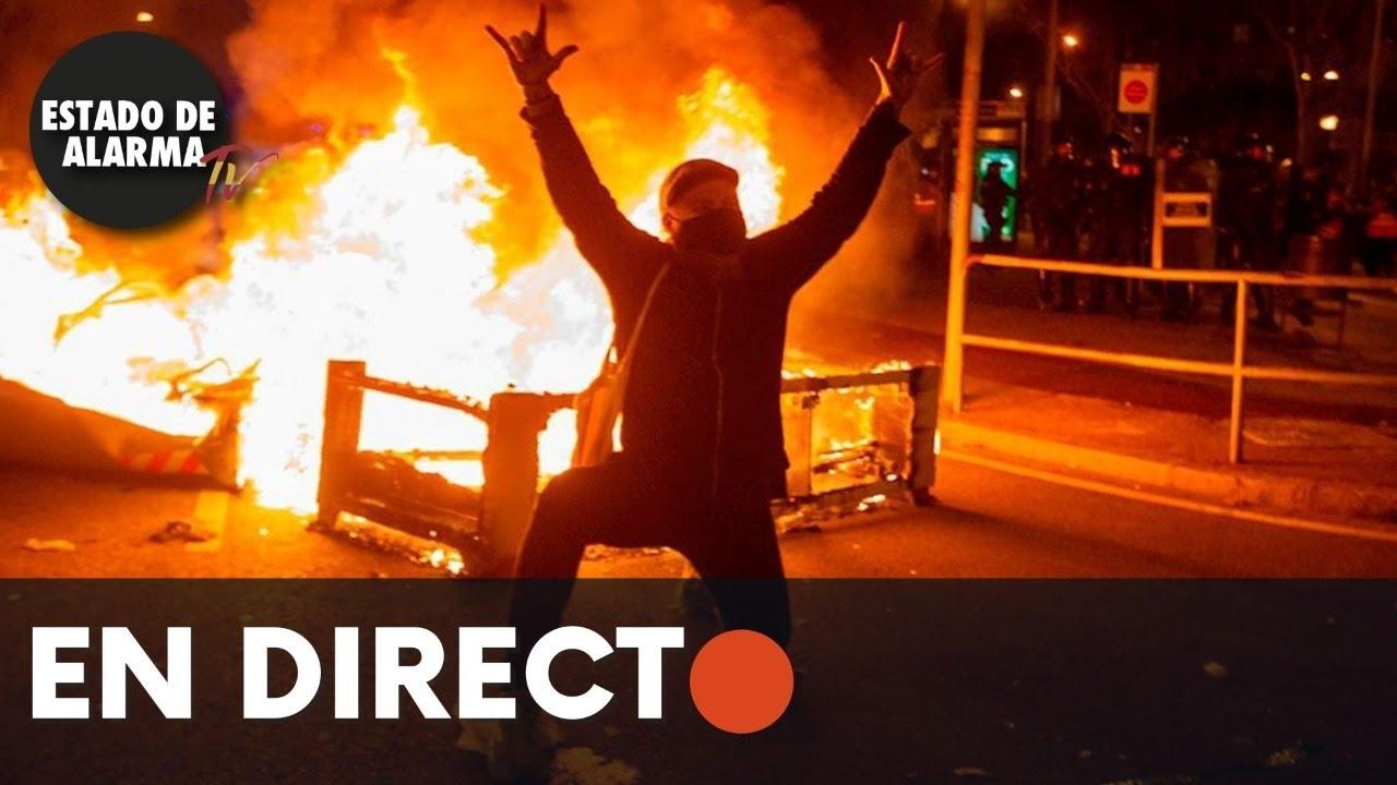 DIRECTO | Protestas en Barcelona en favor de Pablo Hassel