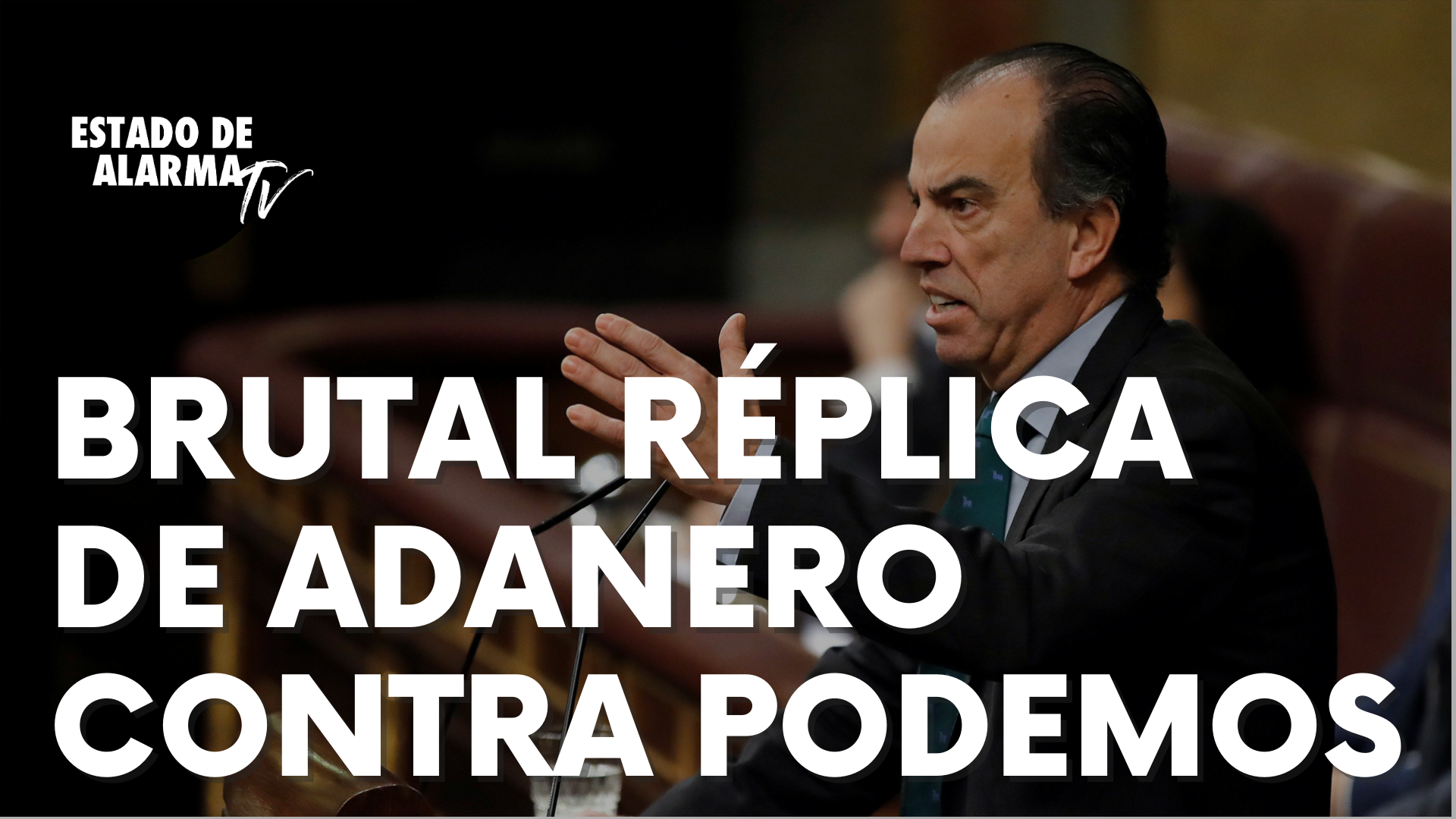 Brutal réplica de Carlos García Adanero contra Podemos por justificar la violencia