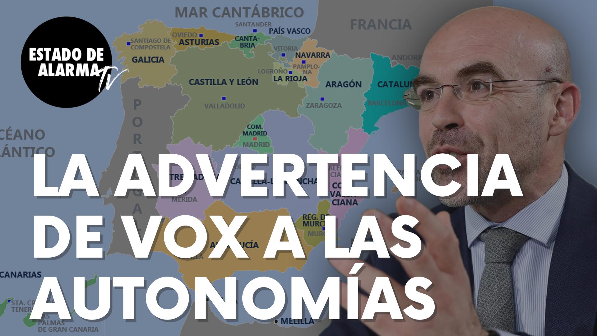 La seria advertencia lanzada por Vox a las autonomías tras el fin del estado de alarma