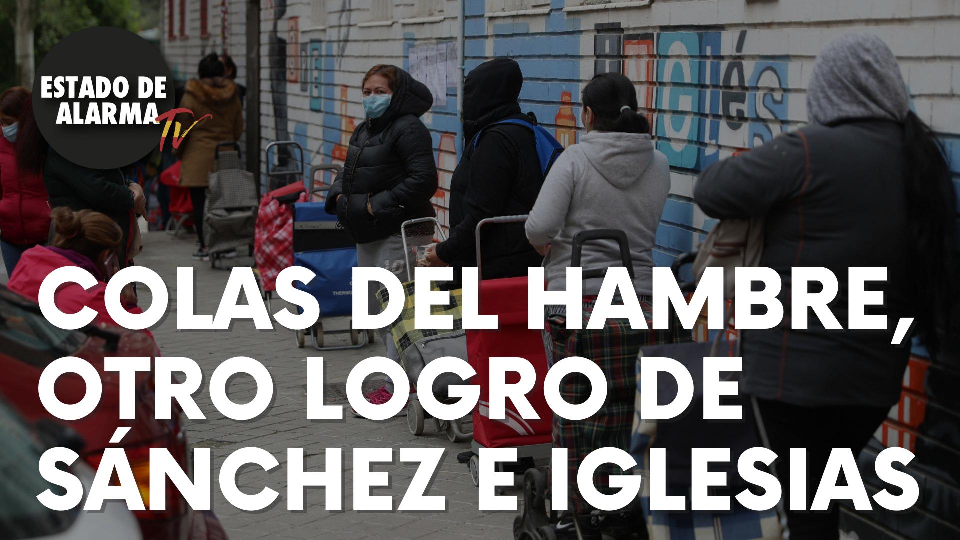 Las colas del hambre, otro logro de Sánchez e Iglesias
