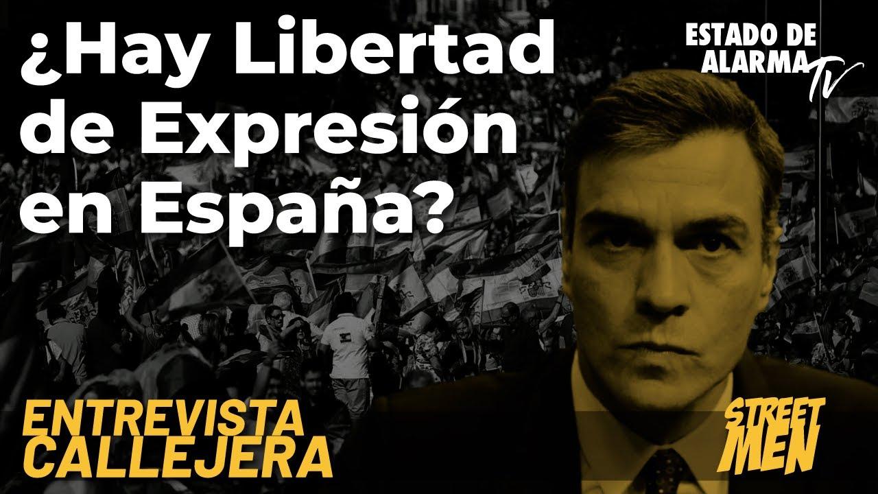 Encuesta callejera: ¿Hay libertad de expresión en España? Street Men
