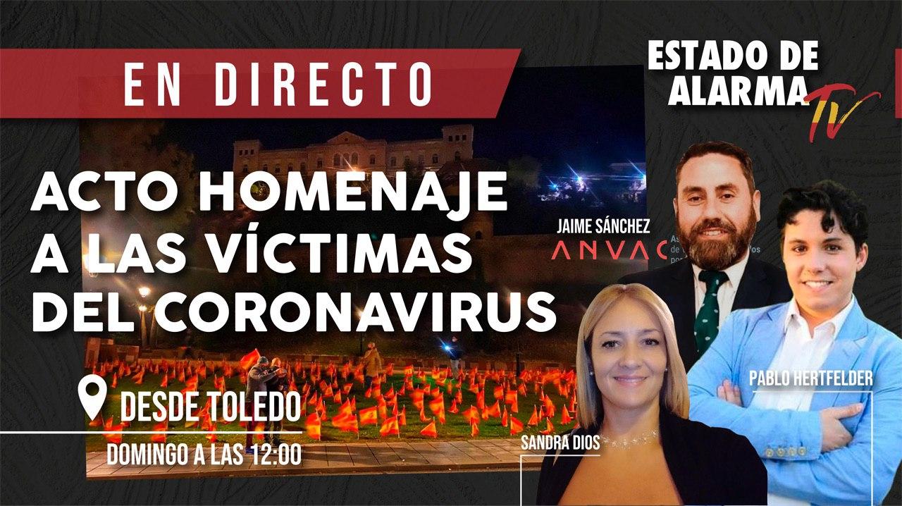 DIRECTO Protesta de ANVAC por boicot homenaje Covid Toledo