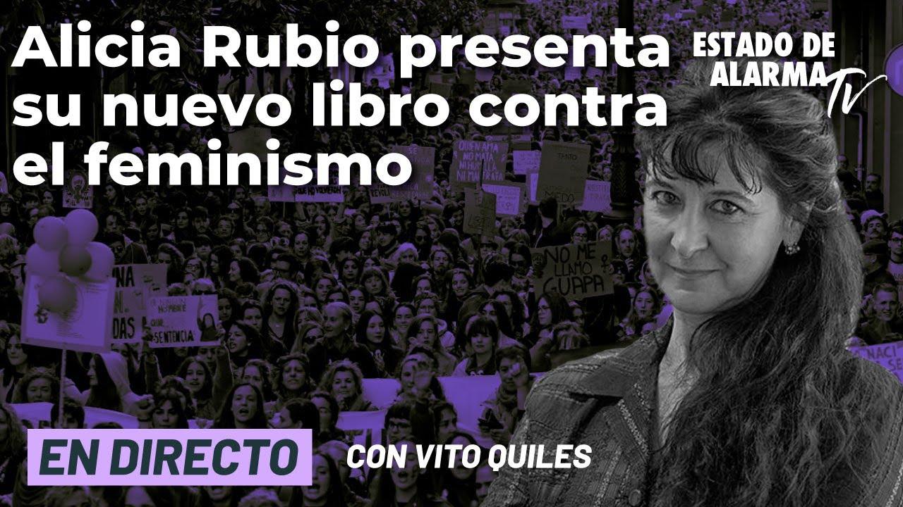DIRECTO Alicia Rubio VOX contra el FEMINISMO presenta su nuevo libro. Vito Quiles