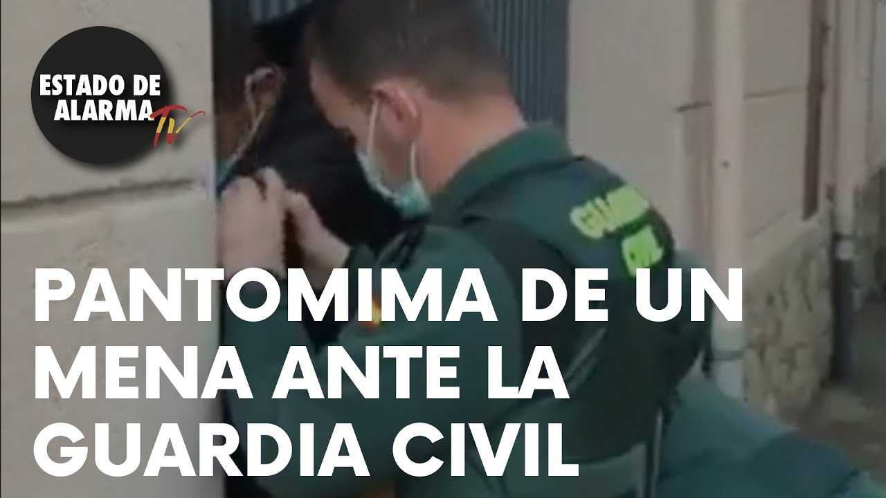 PANTOMIMA de un MENA ANTE LA GUARDIA CIVIL