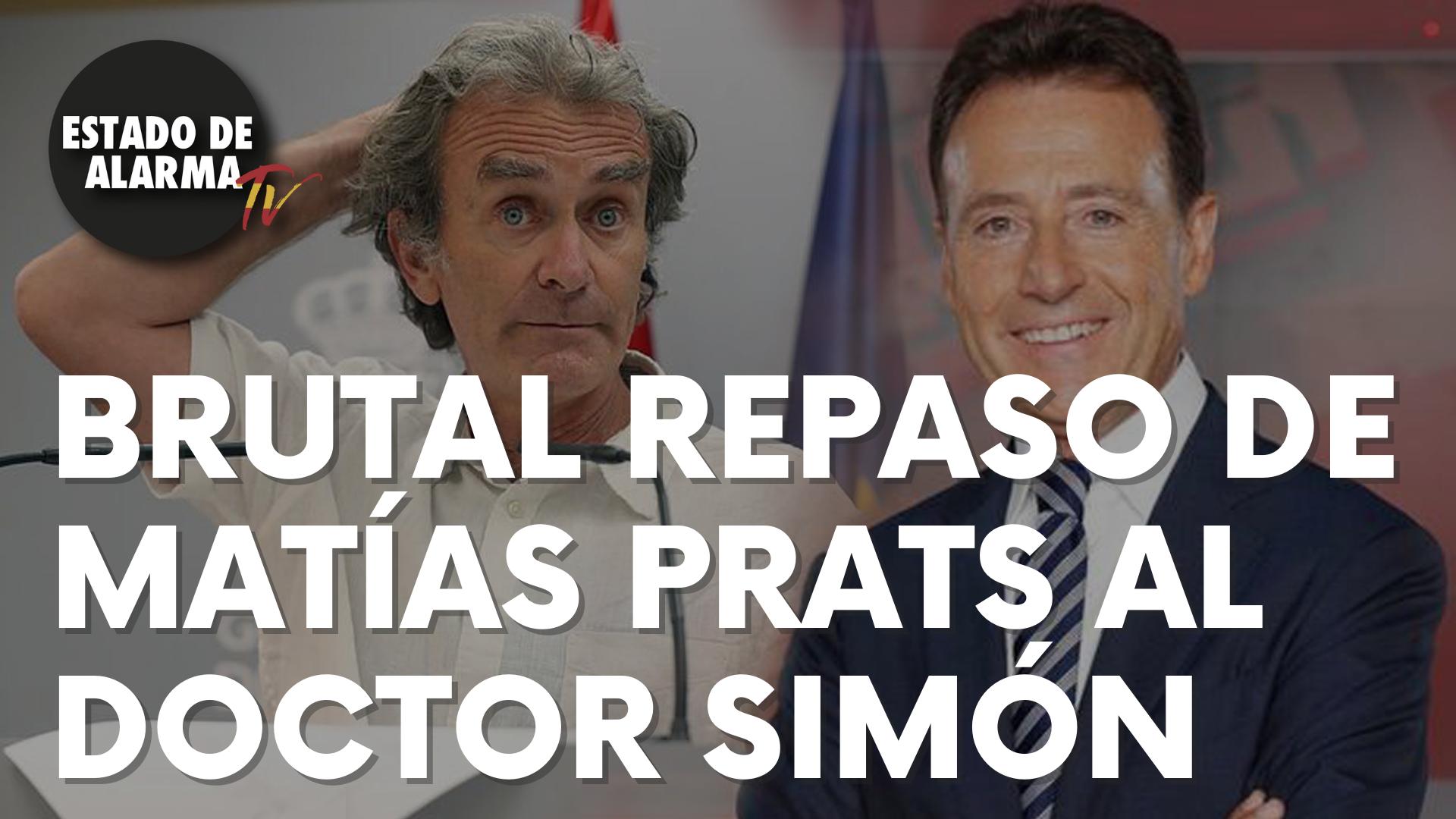 Brutal repaso de Matías Prats al doctor Fernando Simón