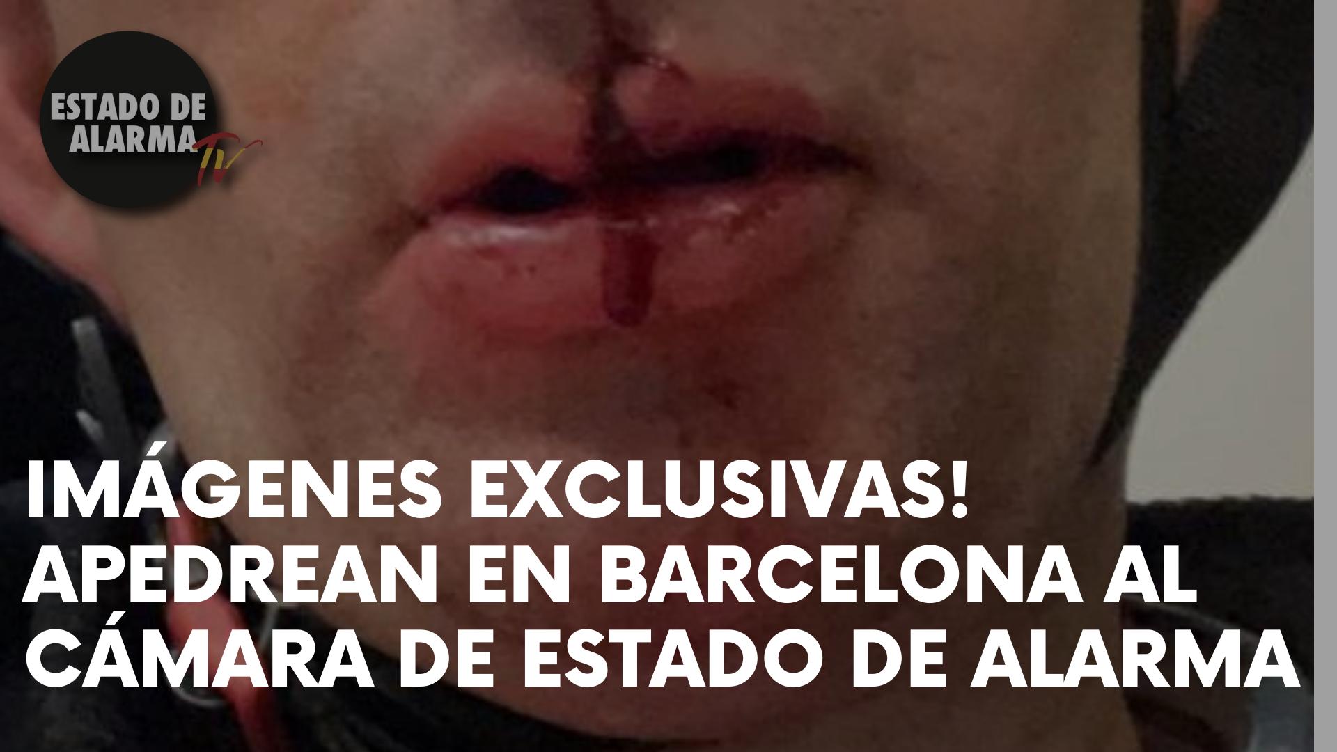¡IMÁGENES EXCLUSIVAS! APEDREAN EN BARCELONA AL CÁMARA DE ESTADO DE ALARMA