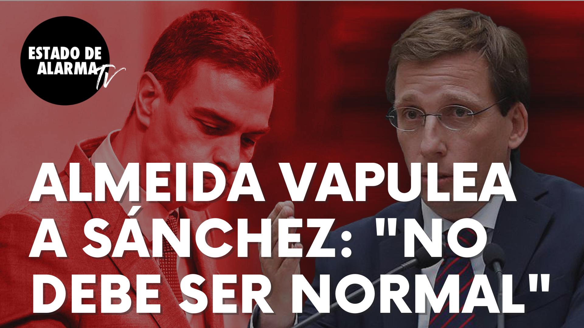 """El popular José Luís Martínez-Almeida vapulea a Sánchez tras una nueva mentira: """"No debe ser normal"""""""