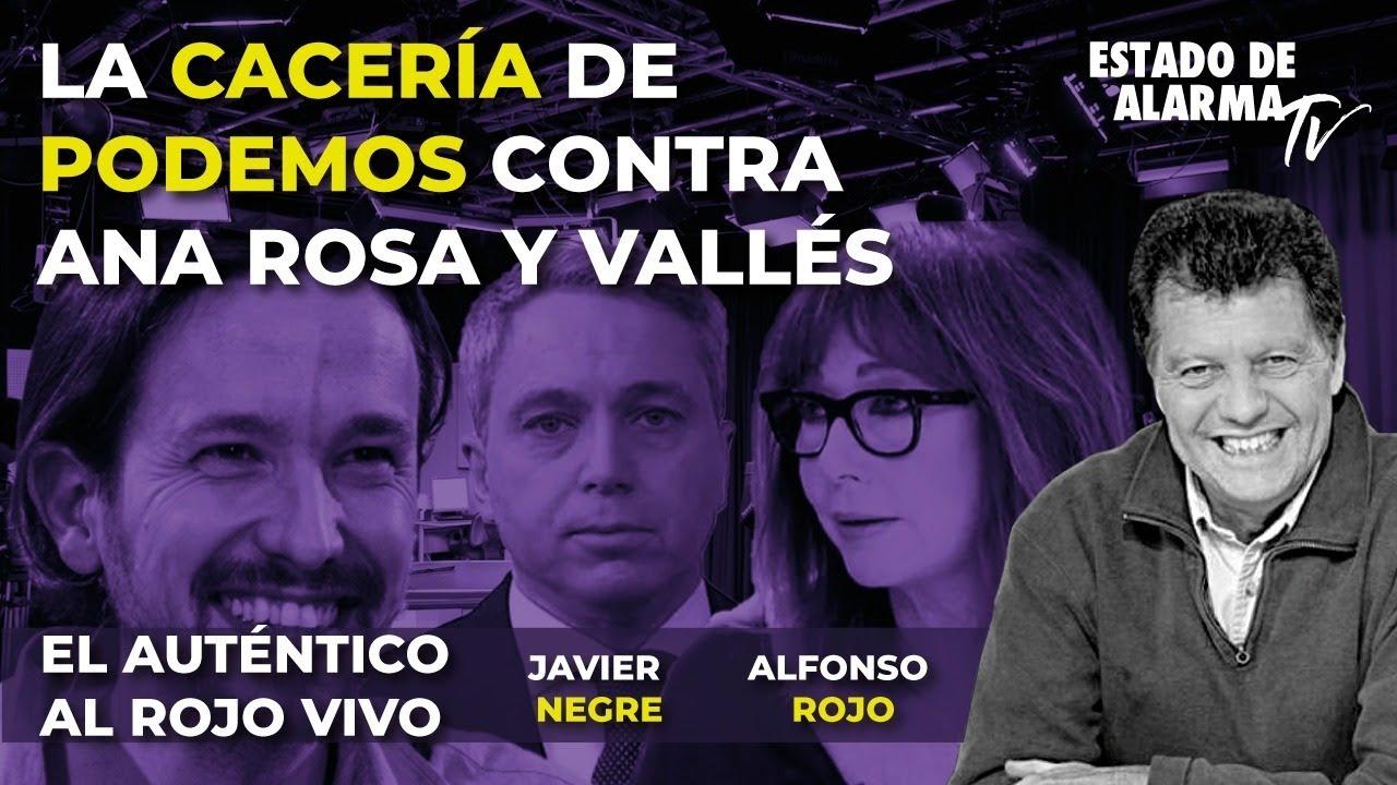En directo el auténtico al Rojo Vivo. La cacería de Podemos contra Ana Rosa y Vallés