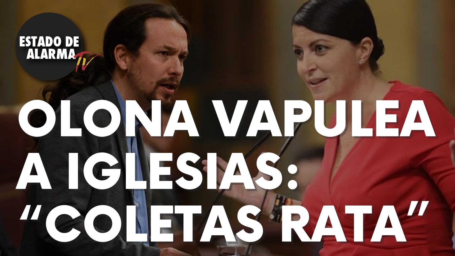 "Olona vapulea a Iglesias: ""Coletas rata"""