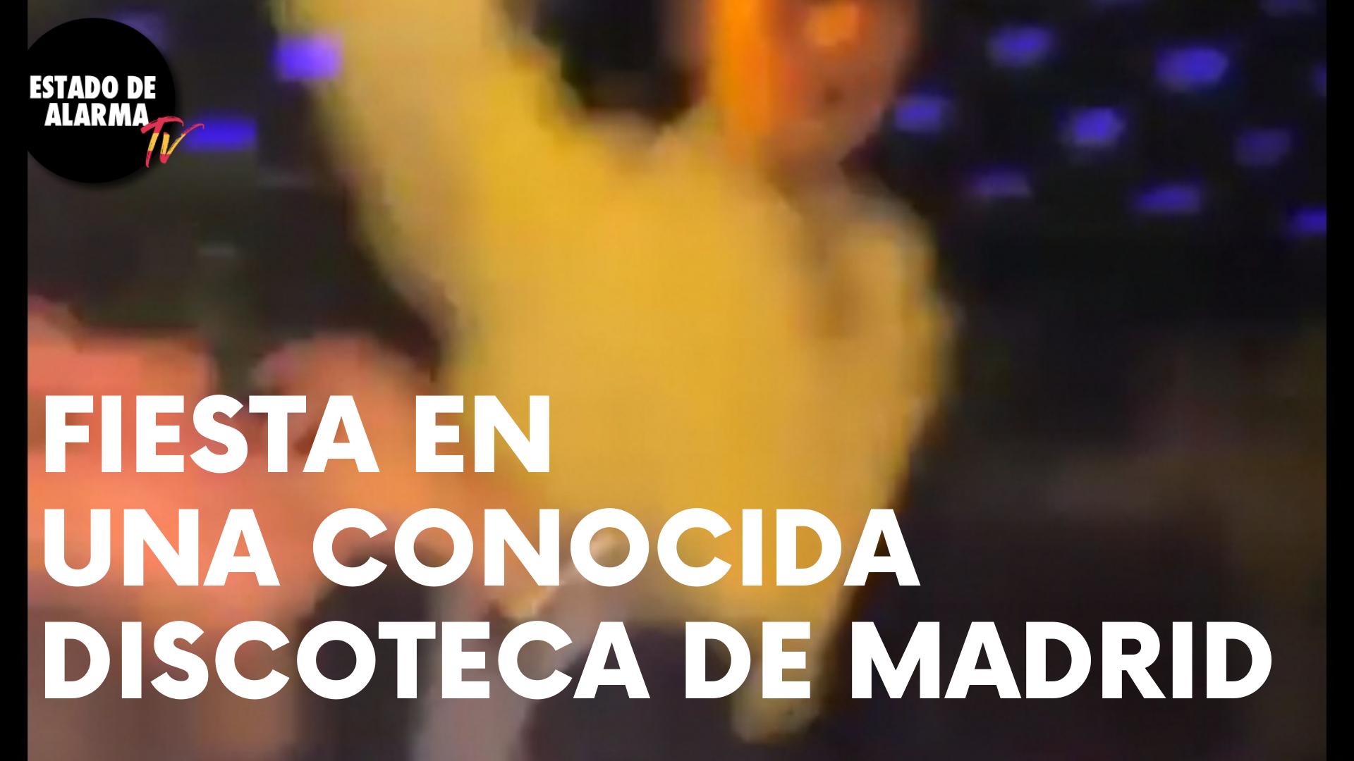 BRUTAL FIESTA SIN CONTROLES SANITARIOS en una CONOCIDA DISCOTECA de MADRID
