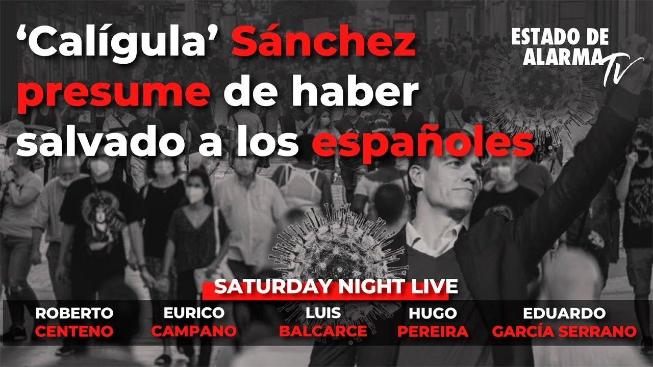 En Directo SNL: 'Calígula' Sánchez presume de haber salvado a los españoles