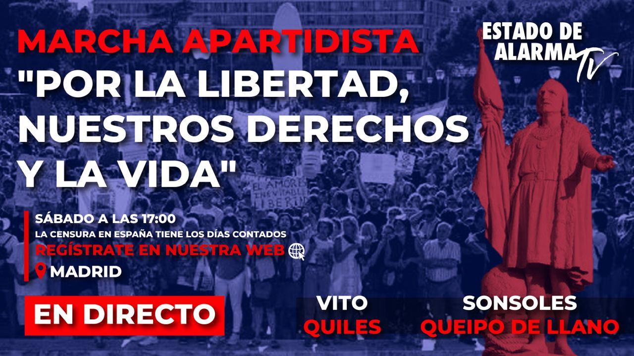 EN DIRECTO:PRE MANIFESTACIÓN en Madrid por la libertad, nuestros derechos y la vida.