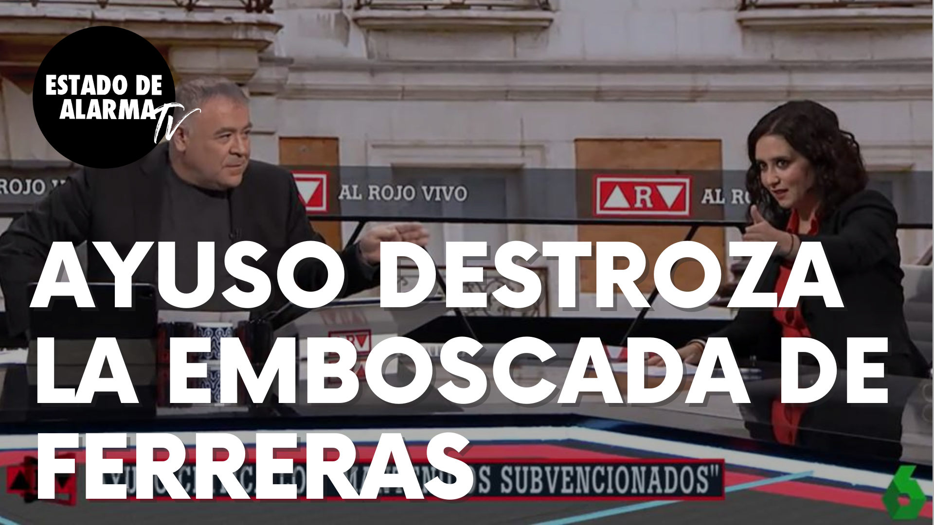 Isabel Díaz Ayuso destroza la emboscada que García Ferreras le había preparado en La Sexta