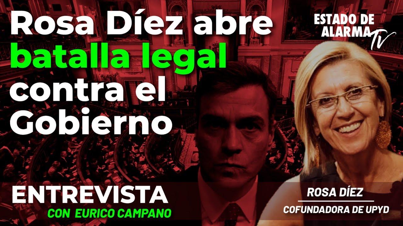 Entrevista a Rosa Díez: Rosa Díez abre batalla legal contra el Gobierno, con Eurico Campano