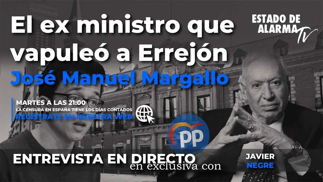 Directo Entrevista EXCLUSIVA: El ex ministro que vapuleó a Errejón, José Manuel Margallo