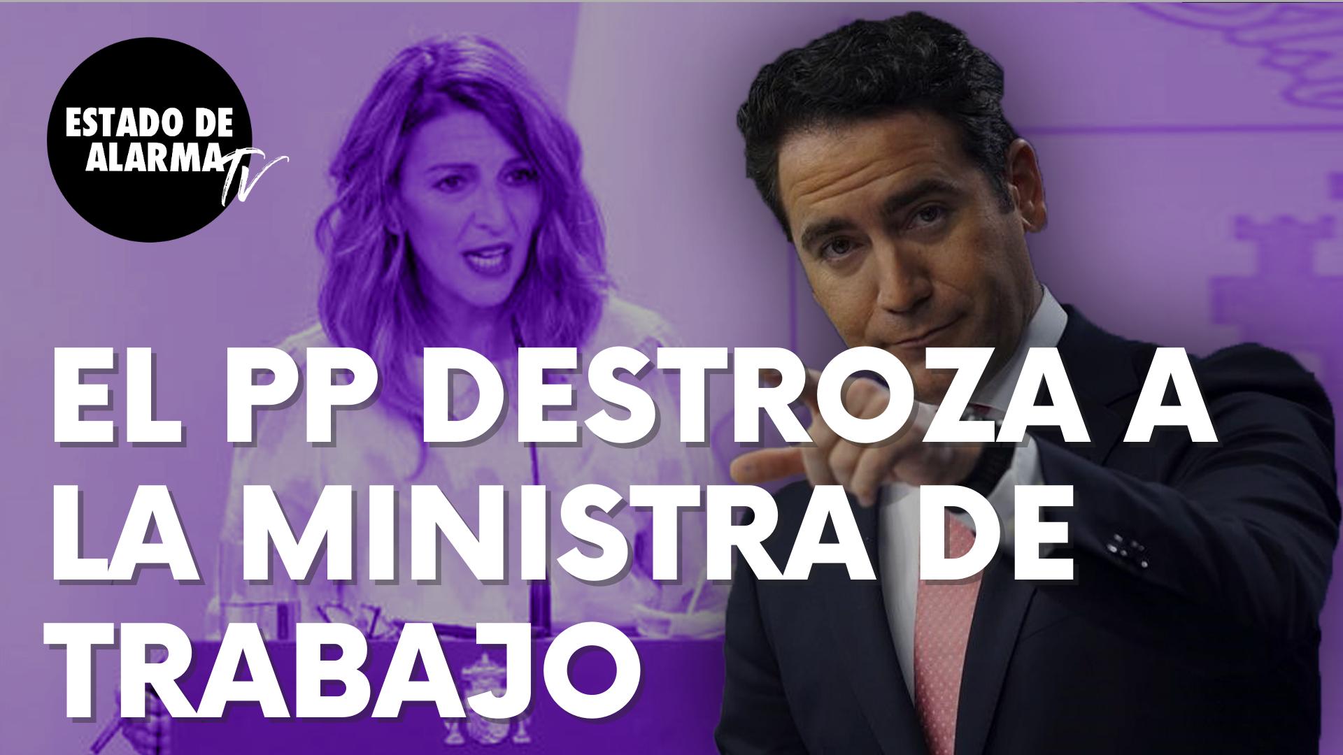 """El popular Teo García Egea destroza a la ministra de Trabajo, Yolanda Díaz: """"Ha perdido la suerte"""""""