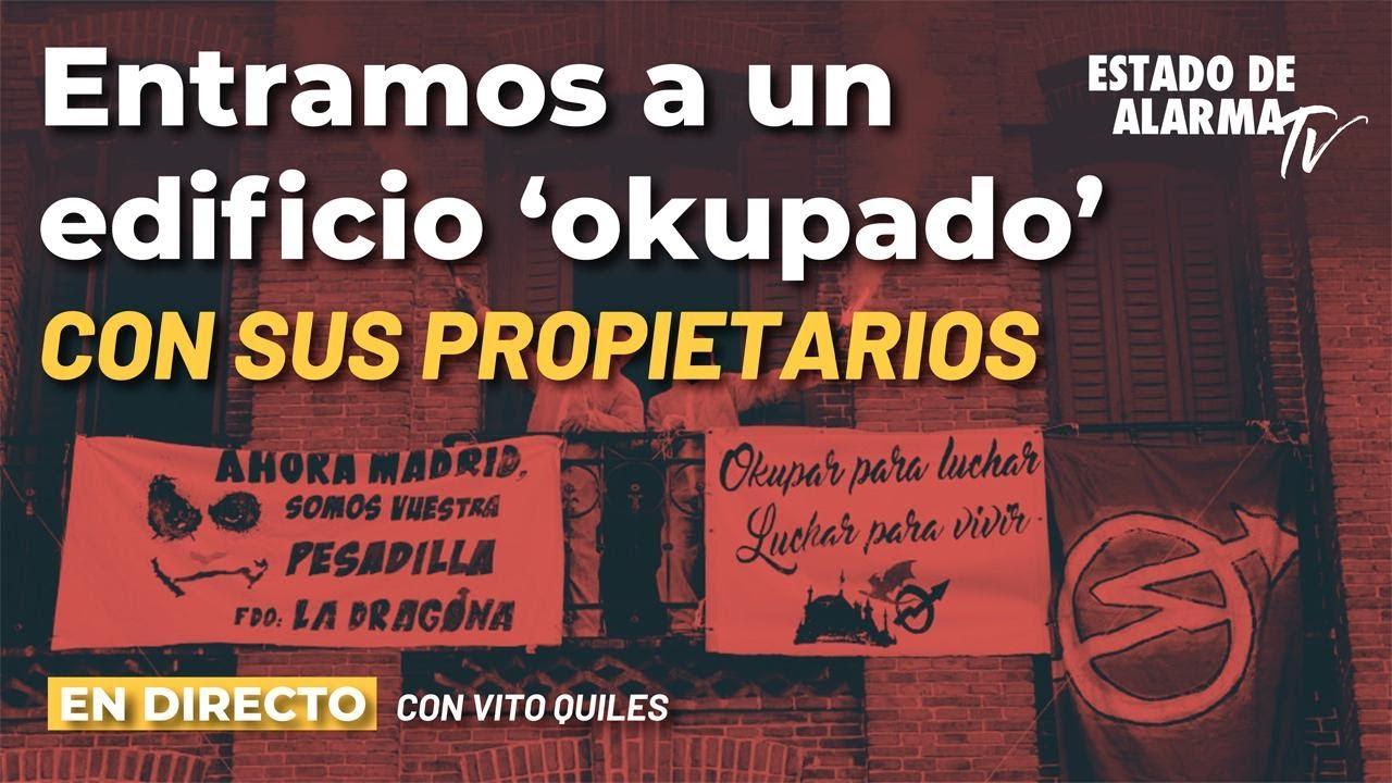 DIRECTO Entramos a un edificio de 'OKUPAS' y NARCOS con Vito Quiles