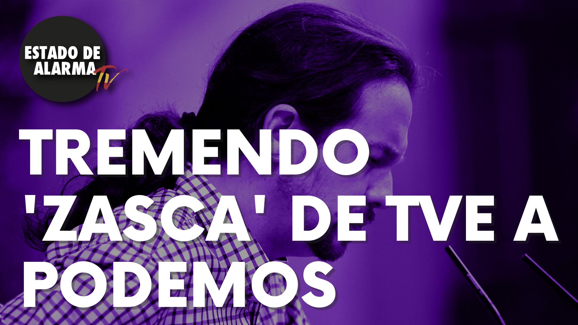 Tremendo 'zasca' de TVE a Podemos