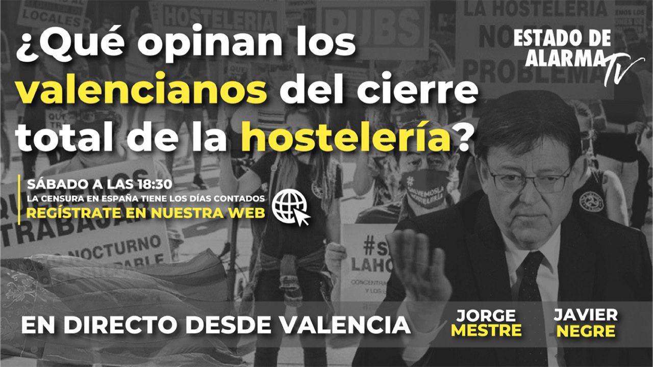 Encuesta en Directo: ¿Qué opinan los valencianos del cierre total de la hostelería? Javier Negre