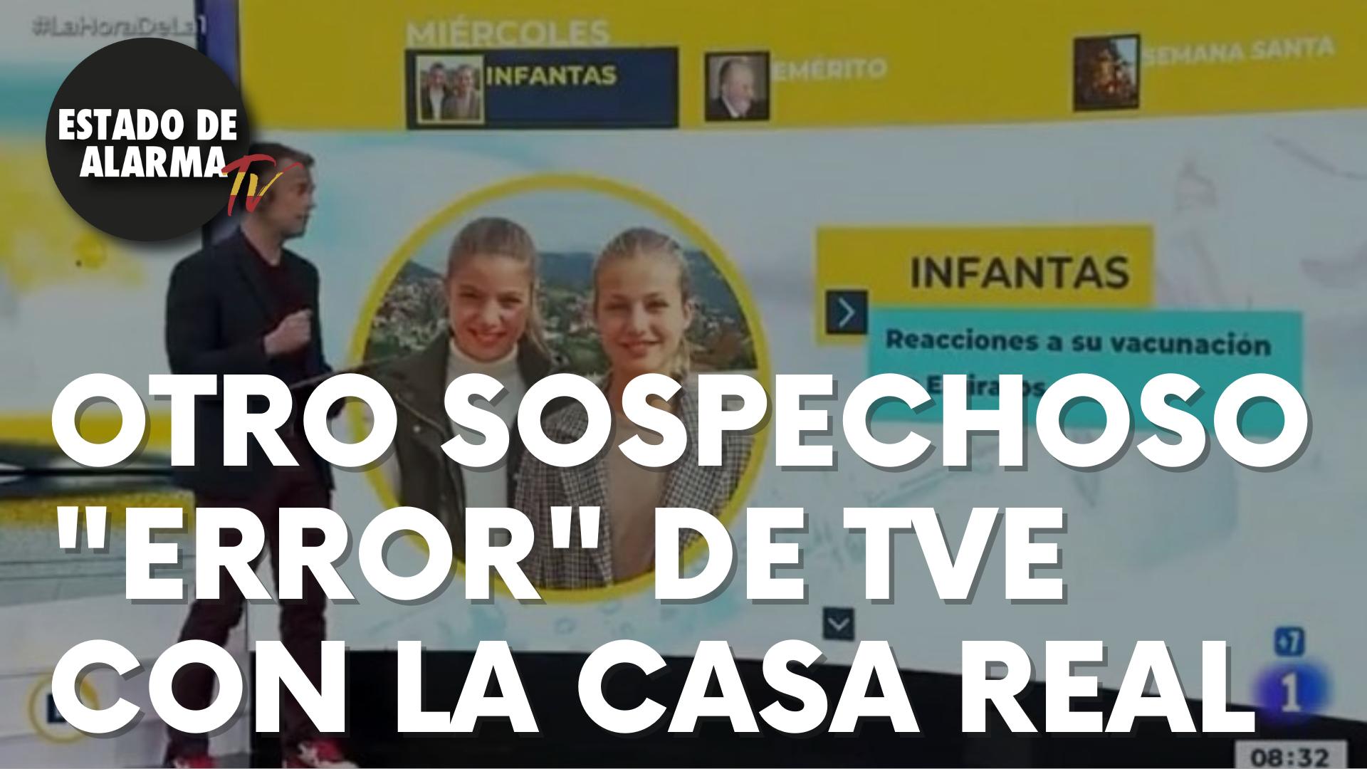 """Otro sospechoso """"error"""" de TVE con la Casa Real"""