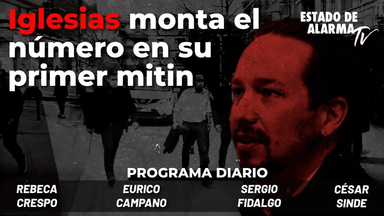 Iglesias monta el número en su primer mitin; Directo con Campano, Sinde, Fidalgo y Rebeca Crespo