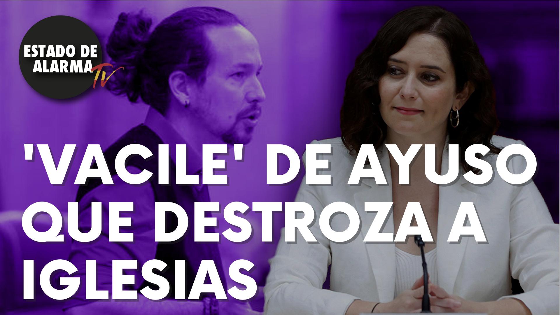 El 'vacile' de la presidenta de Madrid, Isabel Díaz Ayuso, que destroza a Pablo Iglesias