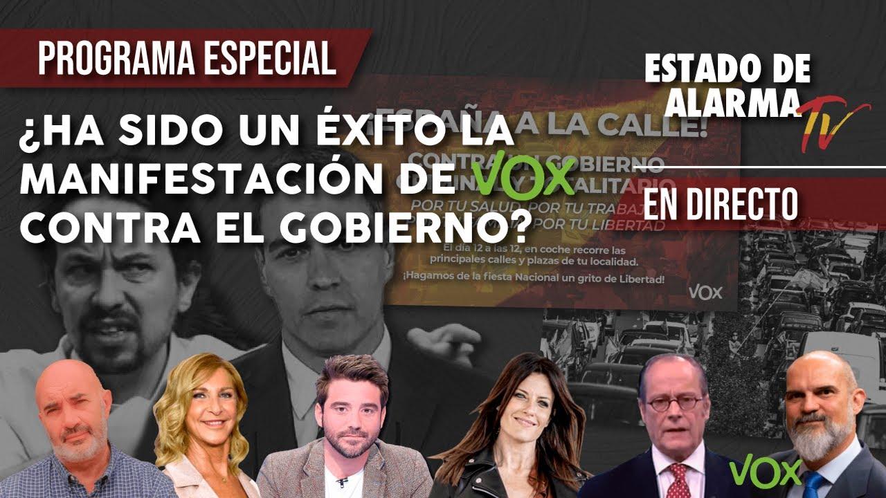 EN DIRECTO: ¿Ha sido un ÉXITO la MANIFESTACIÓN DE VOX contra el GOBIERNO del 12 de octubre?