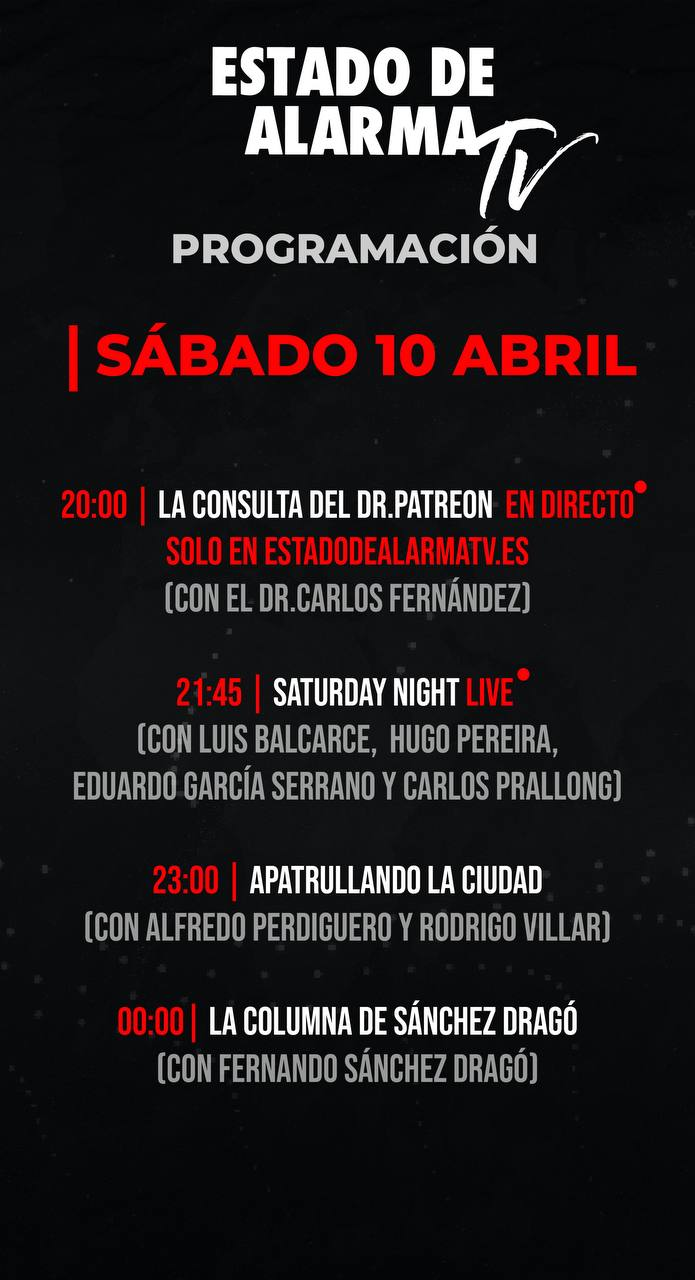 Programación Sábado 10 Abril