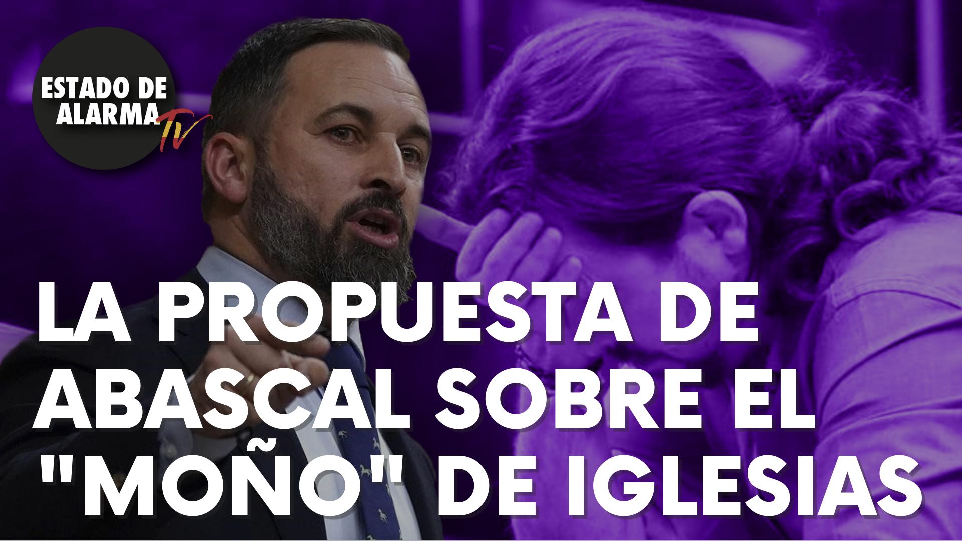 """La propuesta del líder de Vox, Santiago Abascal, sobre el """"moño"""" de Iglesias que incendia las redes"""
