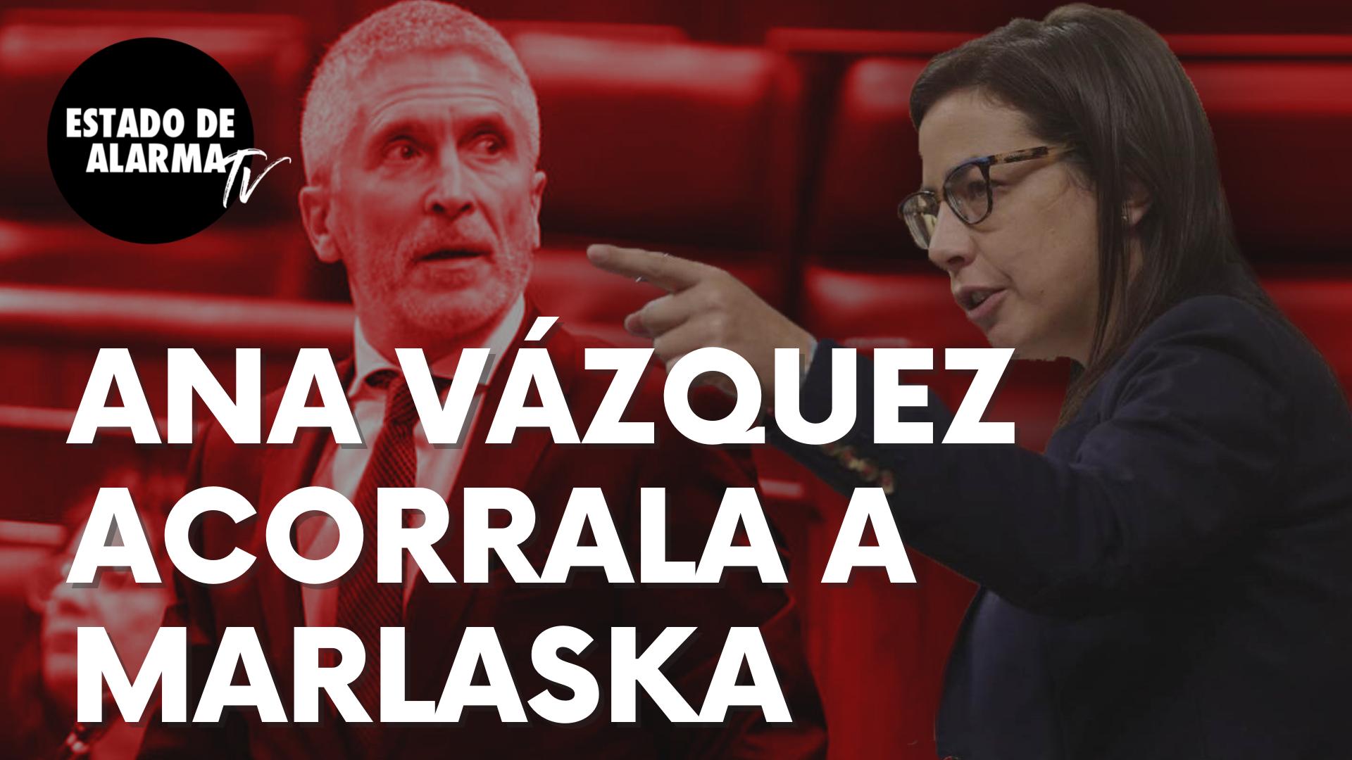 """La diputada del PP Ana Vázquez acorrala al ministro Marlaska: """"Injurias y estupideces"""""""