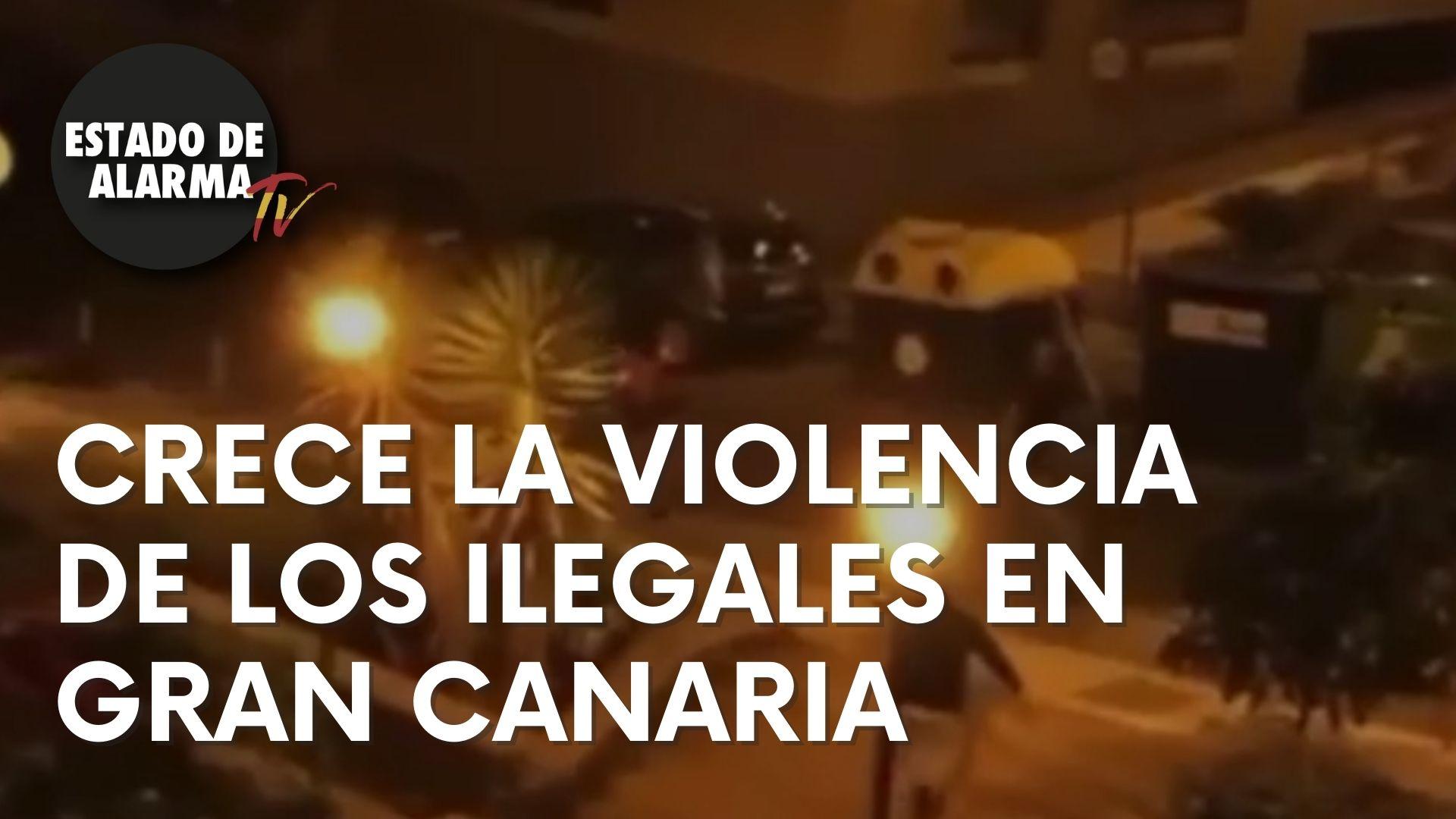Crece la violencia de los ilegales en Gran Canaria