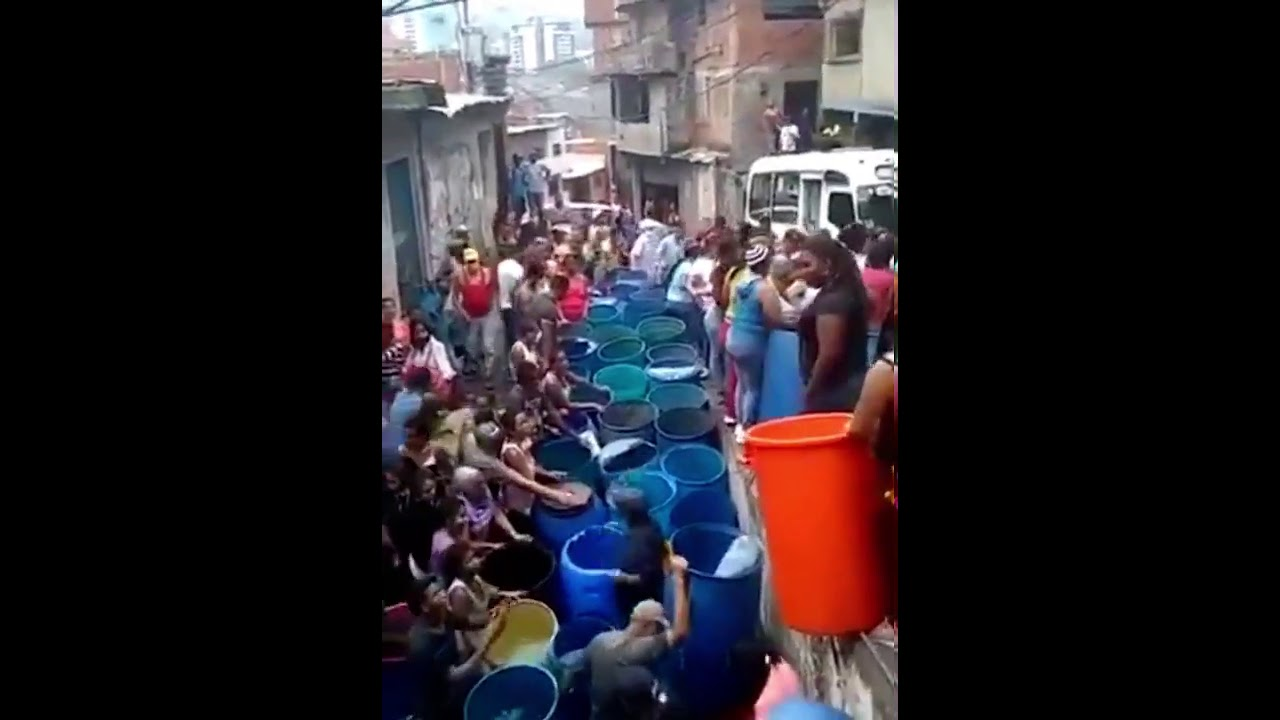 Terrible escasez de agua en Venezuela