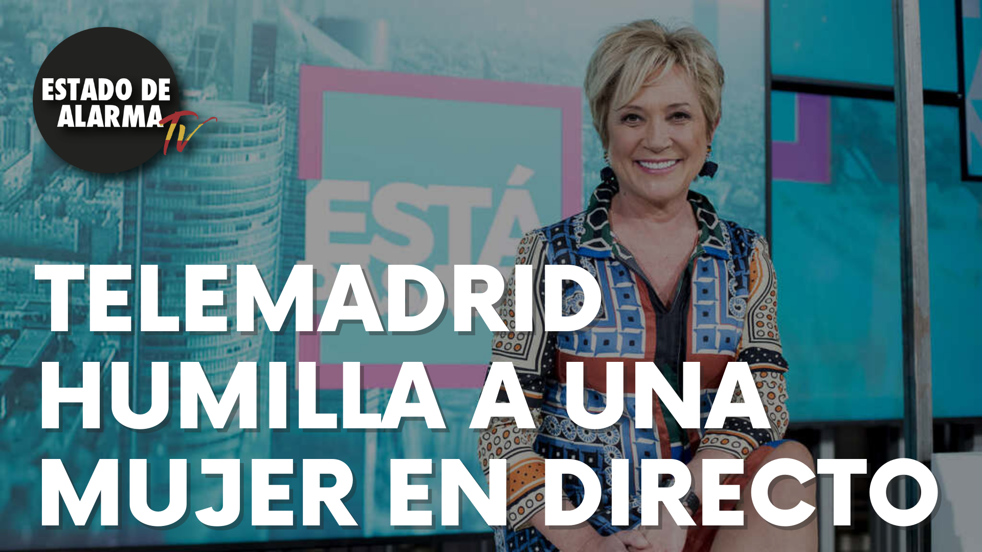 """Telemadrid humilla a una mujer en directo: """"Por 20 euros"""""""