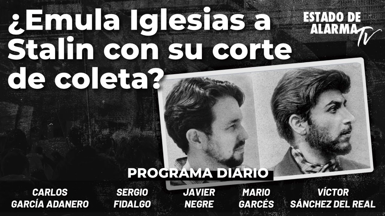 ¿Emula Iglesias a Stalin con su corte de coleta? Negre, Garcés, Gcía. Adanero, Fidalgo, S. del Real