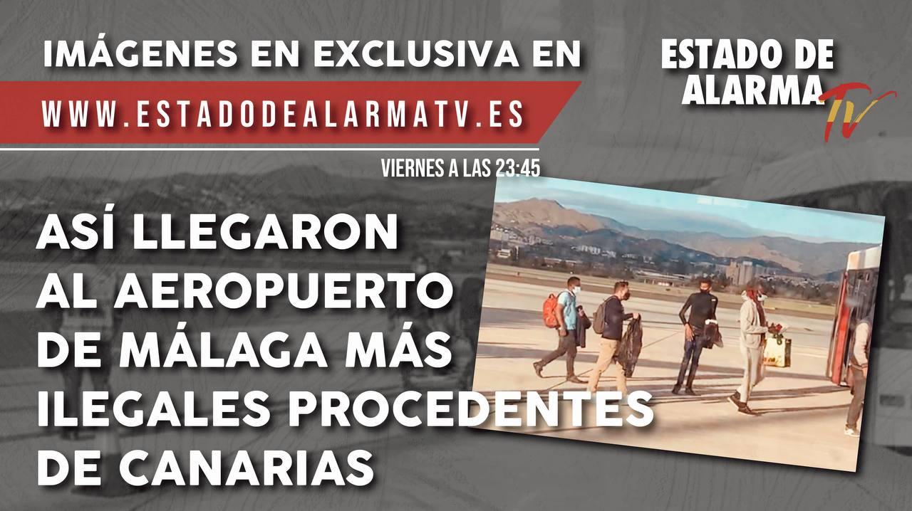 Así llegaron al aeropuerto de Málaga más ilegales procedentes de Canarias