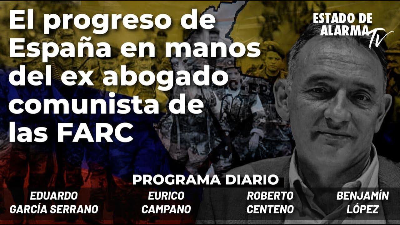 El progreso de España en manos del ex abogado comunista de las Farc, Enrique Santiago; en Directo