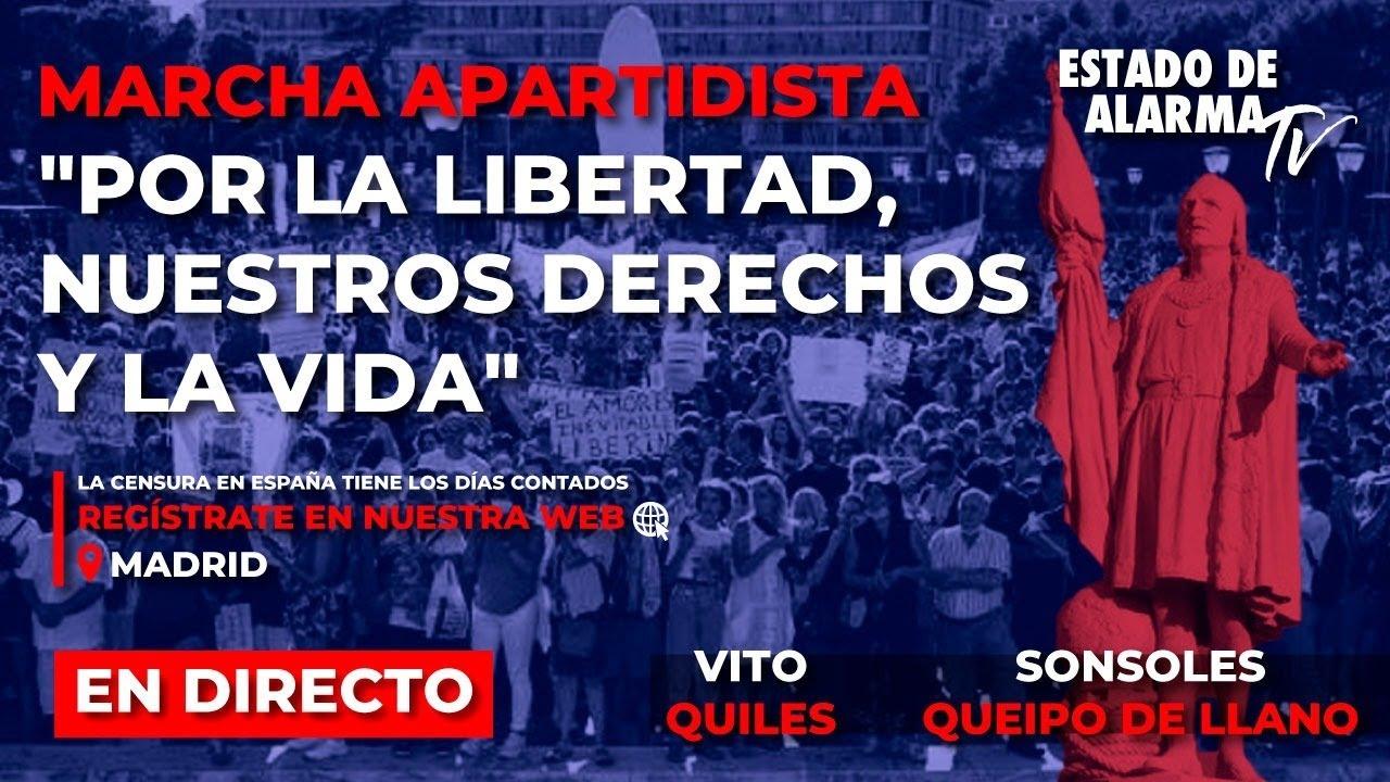 EN DIRECTO | PRE MANIFESTACIÓN en Madrid por la libertad, nuestros derechos y la vida.