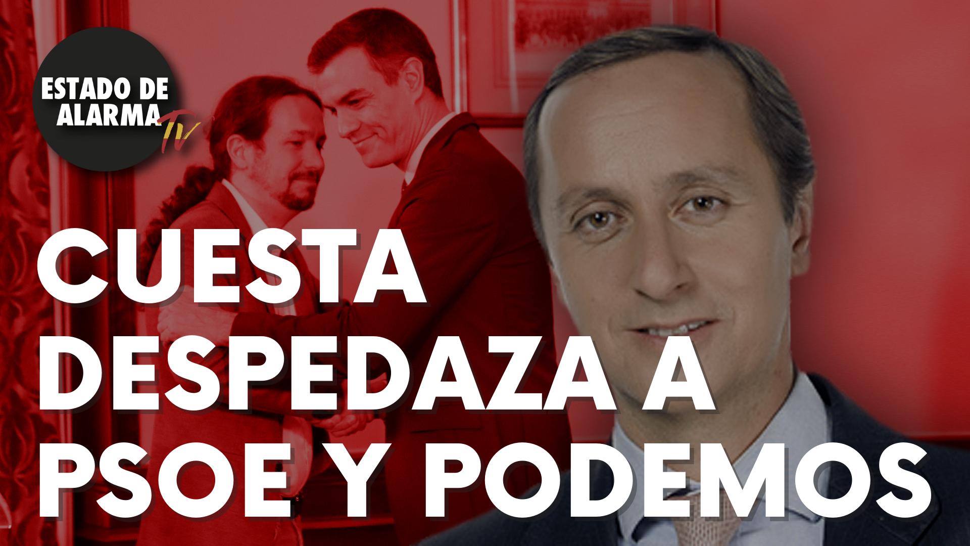 Carlos Cuesta despedaza a PSOE y Podemos con este recado a sus votantes
