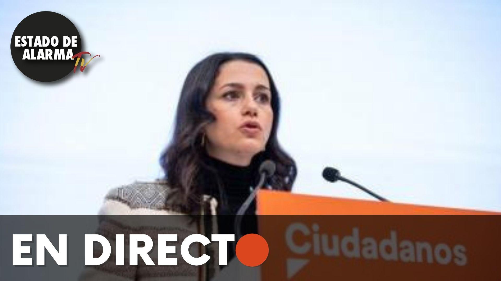 EN DIRECTO | Rueda de prensa de Inés Arrimadas