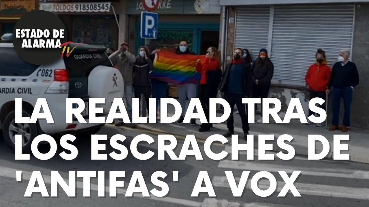Destapan la realidad de los escraches de grupos de 'antifas' a Vox en todos sus actos públicos