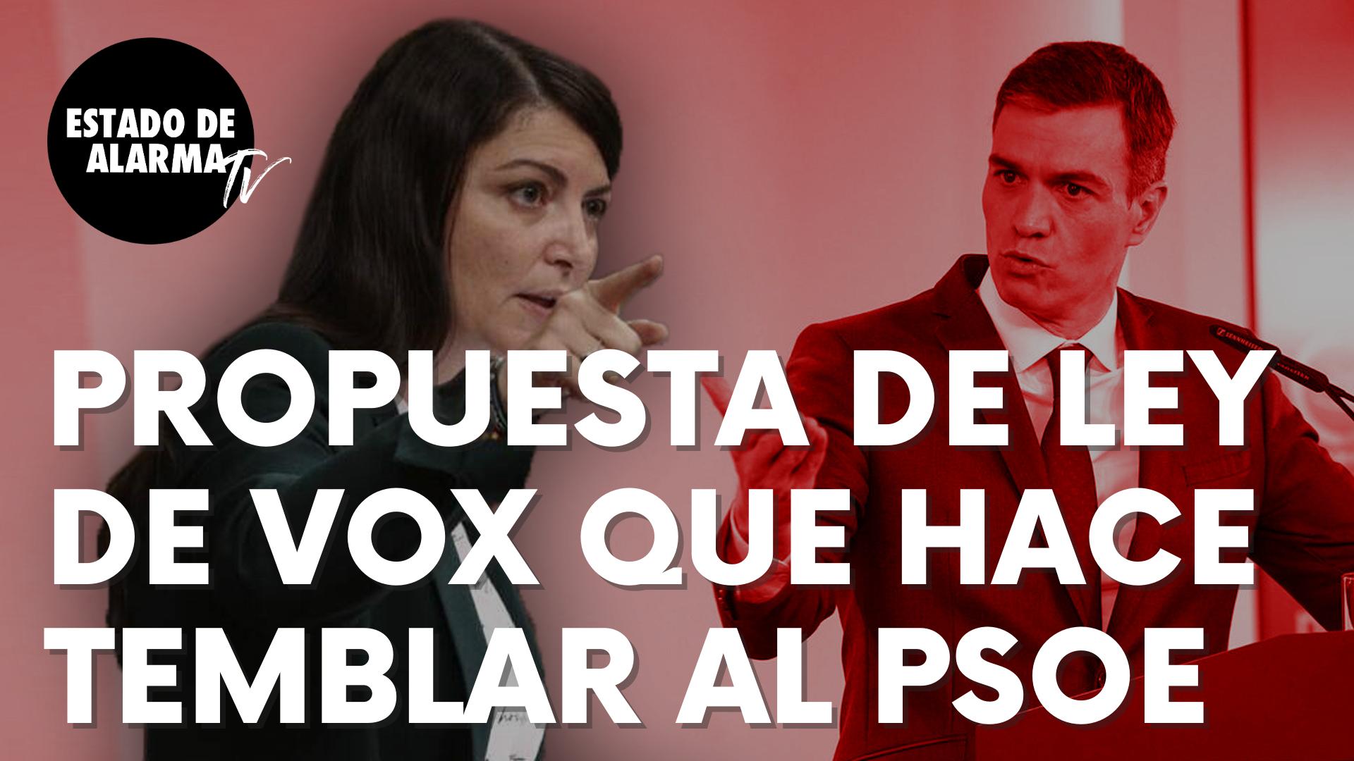 """Esta es la nueva Ley que propone Vox y que hace temblar al PSOE: """"Ley Corbí"""""""