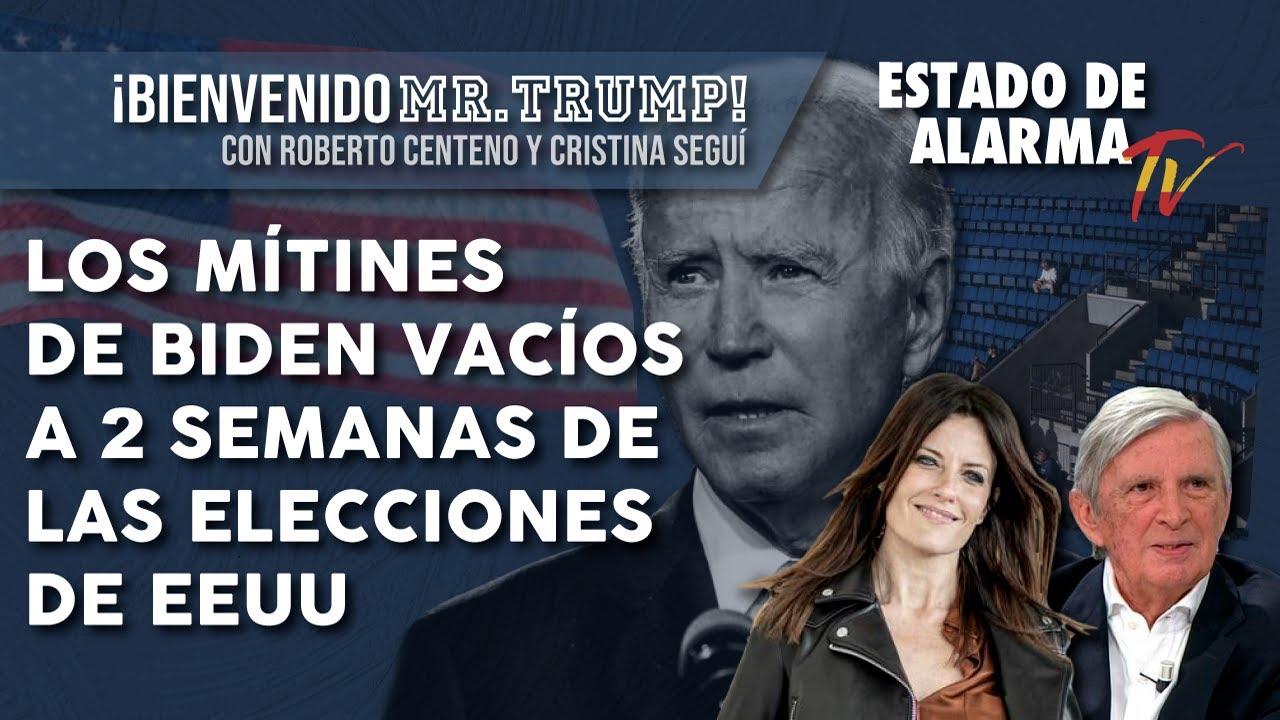 Los MÍTINES de BIDEN VACÍOS a 2 semanas de las ELECCIONES de EE.UU., en Bienvenido Mr. Trump!