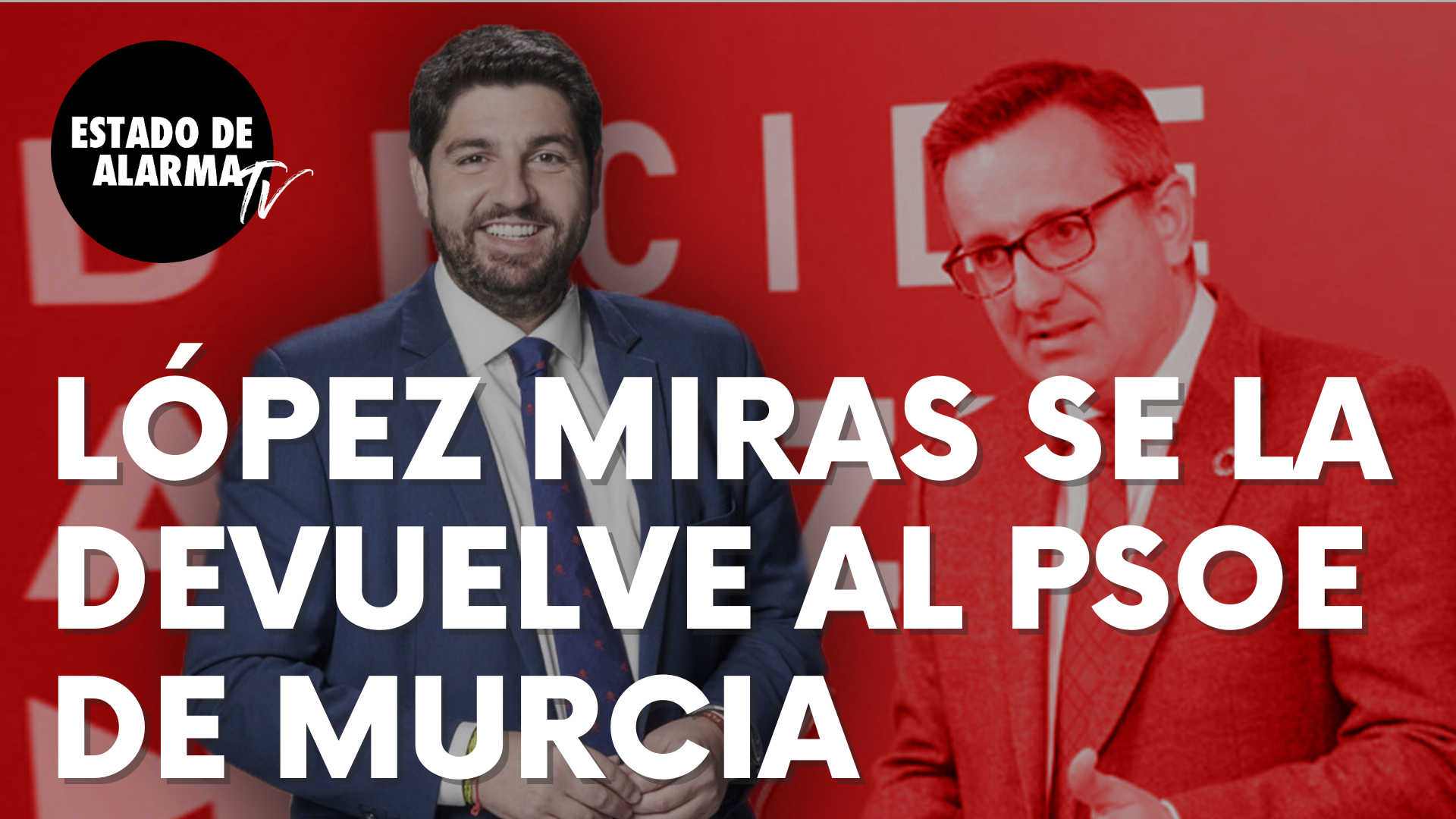 El presidente murciano, Fernando López Miras, se la devuelve al socialista Conesa