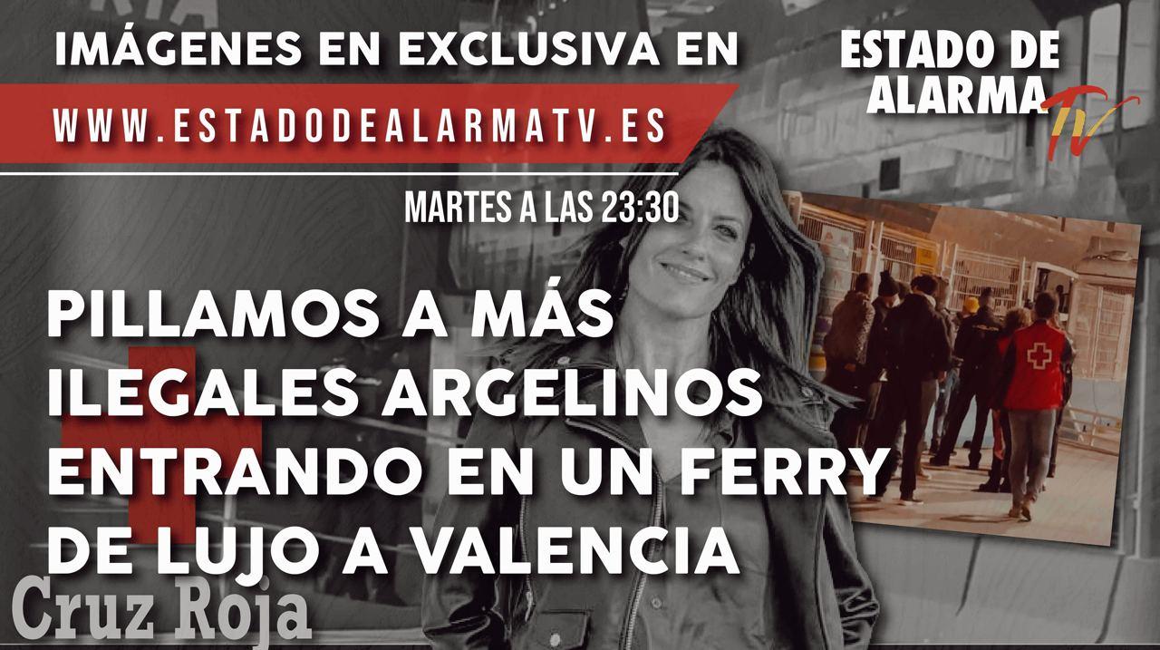 Pillamos a más ilegales argelinos entrando en un ferry de lujo a Valencia