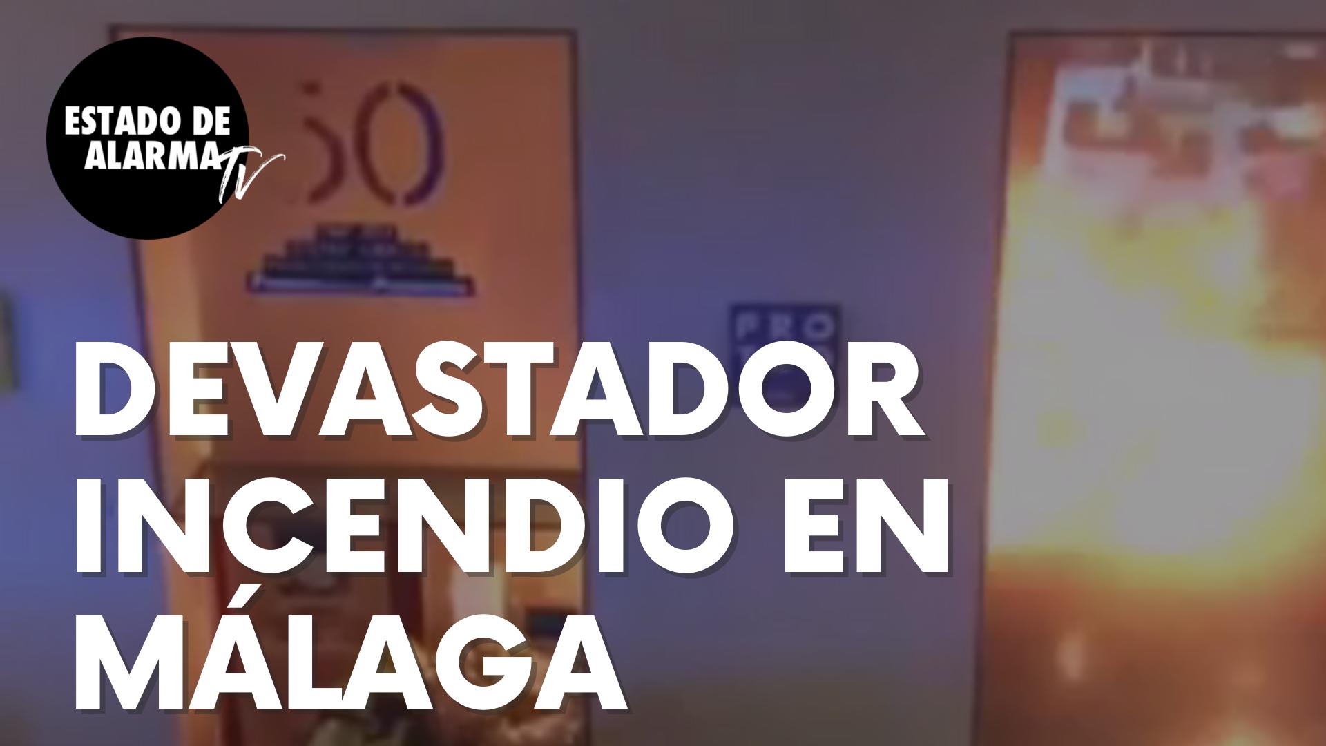 Devastador incendio en el centro de Málaga que acaba con una emblemática librería